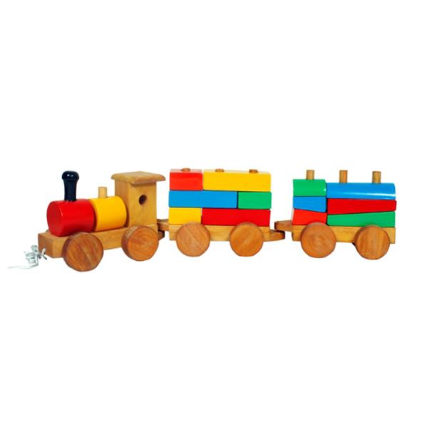Wooden Train - Shapes & Colours
