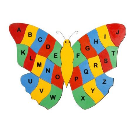 Alphabet Puzzle - Butterfly Shape