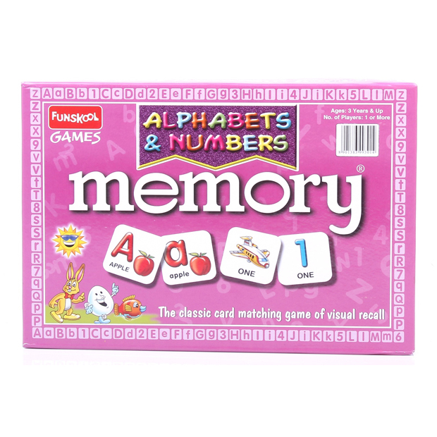 Memory Game - Alphabet & Numbers